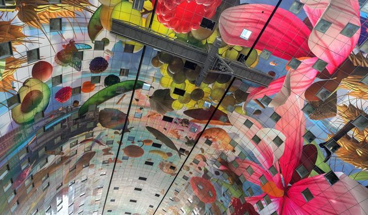 Gevel- Sublimatie - plafondlpanelen Markthal Rotterdam - TS Visuals