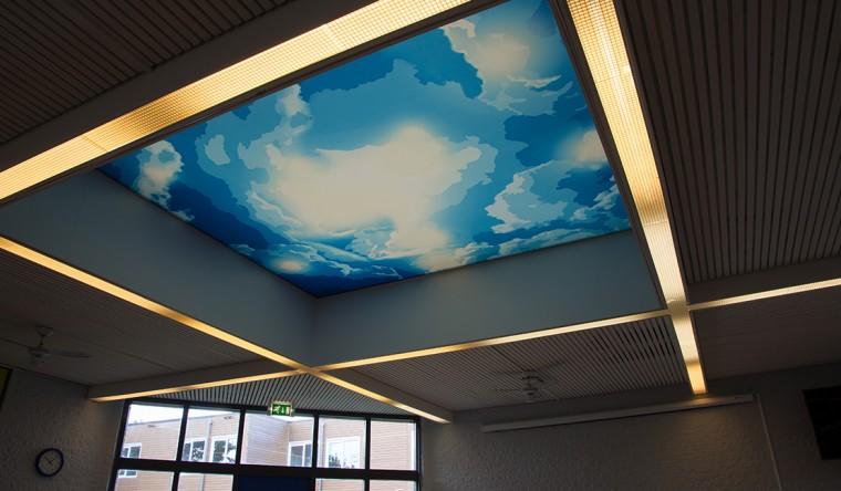 Textielframe verlicht spanplafond - TS Visuals - VSO Hendrik Mol