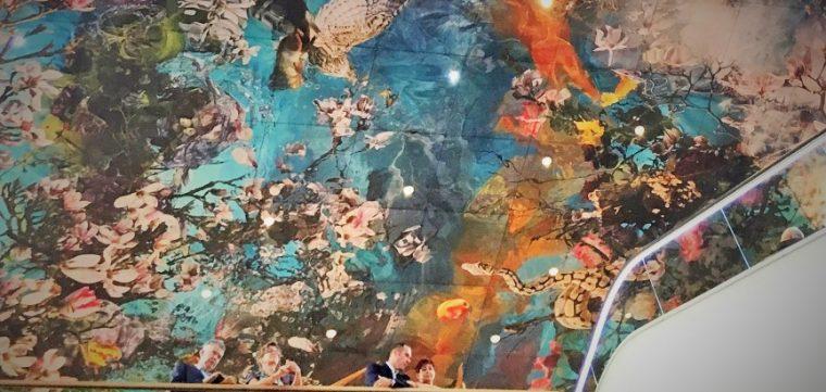 Plafond Akoestisch -Sublimeren - Ems Galerie Rheine - TS Visuals